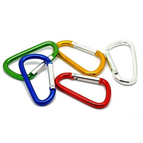 TOOGOOR-5in1-Sport-Accessoires-Mixte-Fermoirs-Mousqueton-Escalade-Camp-D-Ring-Porte-cles-66x37cm-multicolore