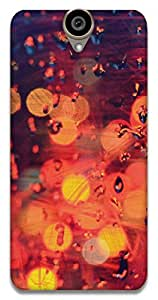 The Racoon Lean printed designer hard back mobile phone case cover for HTC One E9 Plus. (red drops)