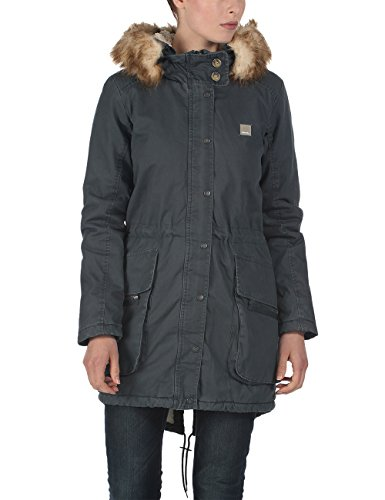 Bench, Parka Donna Wolfish B, Blu (Midnight Navy), X-Small (Taglia Produttore: XS)