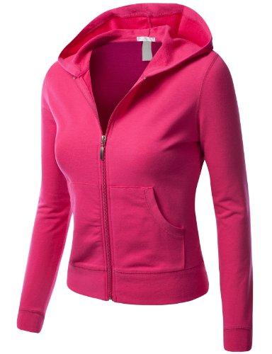 J.TOMSON Womens Athletic Long Sleeve Zip-Up Hoodie