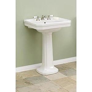 Large Pedestal Sink : Cheviot Large Mayfair Pedestal Sink 511/25-WH-8 White - - Amazon.com