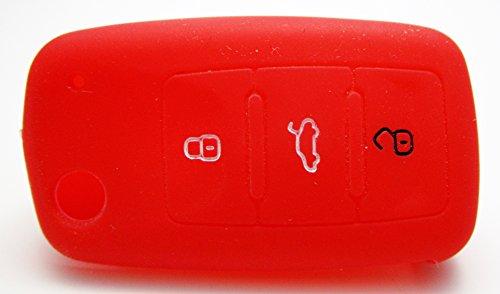 1x-rote-autoschlusselhulle-volkswagen-seat-skoda-silikonhulle-fernbedienung-schlusselhulle-key-cover