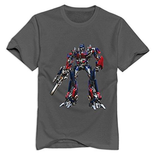 StaBe Men Optimus Prime Transformer T-Shirt Pre-cotton Geek XXL DeepHeather