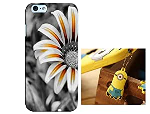 Designer 3D Printed Back Case Grip Cover for Apple iPhone 4, 4S + One Cool 3.5 mm Jack Anti Dust Plug