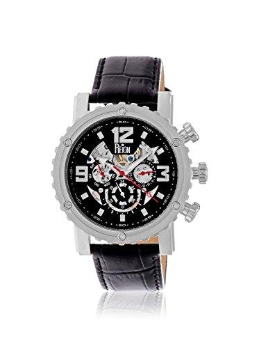 Reign Men's REIRN1902 Alpin Black Leather Watch