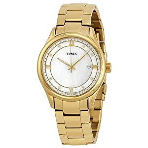 Timex Women's T2P1489J Classic Gold-Tone Stainless Steel Bracelet Watch