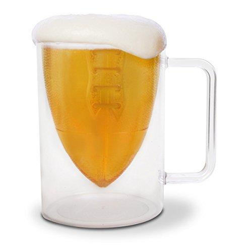BigMouth Inc. Bottoms Up! Football Beer Mug