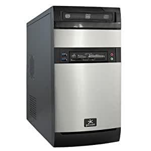 Office / Multimedia COMPUTER PC | Front USB2.0 | 300W BeQuiet 80PLUS Bronze Netzteil | Dual-Core AMD A4 X2 6320 2x3.8GHz | 128GB A-DATA SP920 SSD (560MB/sek. lesen) + 1000GB SATA III Festplatte | 8GB DDR3 Arbeitsspeicher | MSI A68HM-P33 FM2+ Mainboard | AMD Grafik HD8370D mit DVI und VGA | DVD-Brenner | 5.1 Sound | Gigabit-LAN | Cardreader | Windows 10 64Bit