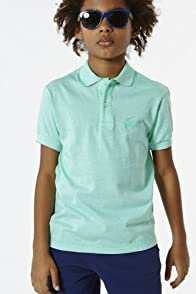 Boy's Short Sleeve Jacquard Croc Jersey Polo