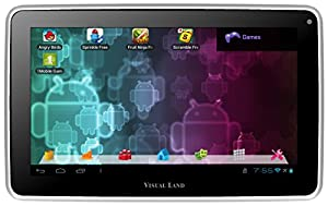 Visual Land Prestige 7-Inch Tablet with 8GB Memory (White)