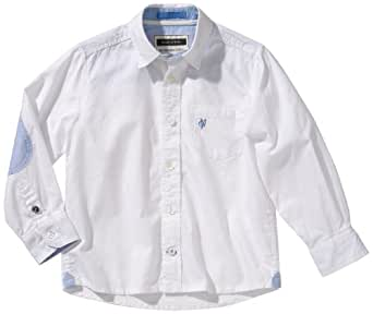 Marc O' Polo Junior Jungen Hemd 962199, Gr. 176, Weiß (10 white)
