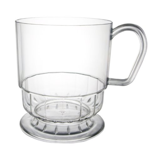 Party Essentials N81099 Elegance Plastic Coffee Cup, 8-Ounce Capacity, Clear (Case Of 120)