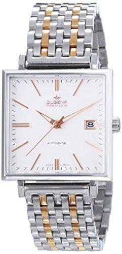 Dugena  Dugena Premium - Reloj de manual para hombre, con correa de acero inoxidable, color multicolor