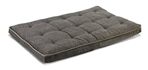 "Bowsers Luxury Dog Crate Mattress, Pewter Bones, MED 21""x30""x3"" by Bowsers"