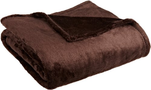 Northpoint Cashmere Plush Velvet Throw, Chocolate front-767396