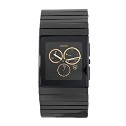 Rado Men's R21714162 Ceramica Black Gold-Tone Subdial Watch by Rado