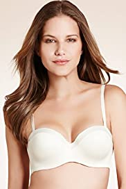 Underwired Satin Bandeau Multiway A-D Bra