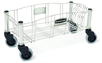 Rubbermaid Commercial FG355300SSSTL Slim Jim Stainless Steel Dolly for Slim Jim Containers