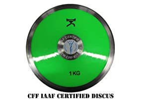 Buy CFF Ladies 1 kg Discus IAAF Certified Competition Discus by CFF-FIT