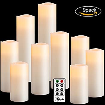 Flameless Candles, Battery Candles Set of 9(H4