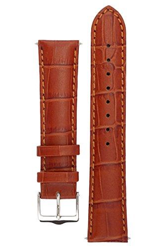 signature-strengen-armbanduhr-band-ersatz-uhrenarmband-echtleder-silber-schnalle