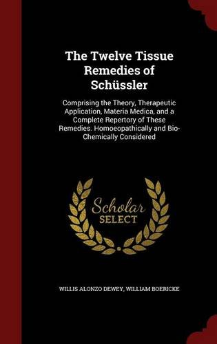 The Twelve Tissue Remedies of Schüssler: Comprising the Theory, Therapeutic Application, Materia Medica, and a Complete Repertory of These Remedies. Homoeopathically and Bio-Chemically Considered
