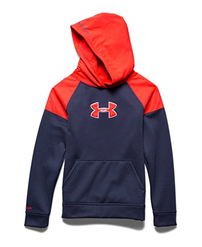 Under Armour Big Boys' UA Storm Armour® Fleece Woven Hoodie Youth Large BLUE KNIGHT