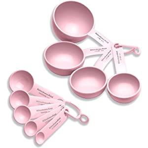 Amazon.com: KitchenAid Cook For The Cure Measuring Tool Set, Pink