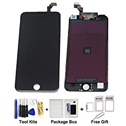 cellphoneage® Black Replacement Digitizer and Touch Screen LCD Assembly with Tools for iPhone 6 plus 5.5\