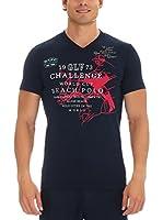 GALVANNI Camiseta Manga Corta Beha (Azul)