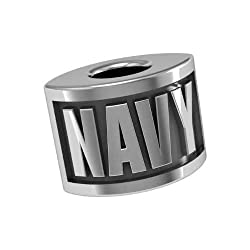 Military Armed Services Navy Bead Fits Most Pandora Style Bracelets Including Pandora Chamilia Biagi Zable Troll and More. High Quality Bead in Stock for Immediate Shipping. This Is the Highest Quality Bead on the Market and a % of Sales Is Donated to the V.A.