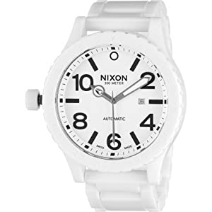 Nixon Ceramic 51-30 Watch - Men's All White, One Size