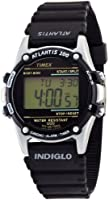 Timex Atlantis Men's Digital Watch with LCD Dial Digital Display and Black Resin Strap T77511
