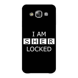 Gorgeous Sher Locked Black Back Case Cover for Galaxy E7