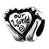Everbling Our World Two Hands Holding Heart Authentic 925 Sterling Silver Bead Fits Pandora Chamilia Biagi Troll Charms Europen Style Bracelets