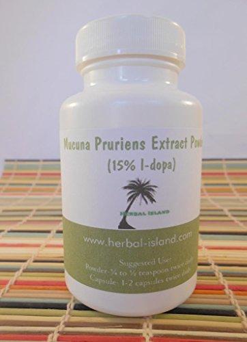 Mucuna Pruriens 60 Count Capsules 500Mg Each 15%L-Dopa Velvet Bean
