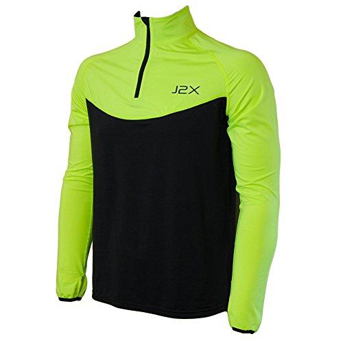 sprint-1-4-zip-hi-viz-running-long-sleeve-jersey-top-l-42-44-chest