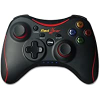 Redgear pro Series Wireless Gamepads With Built in rechargeable battery and Plug and Play support for all PC games supports Windows 7 / 8 / 8.1 / 10