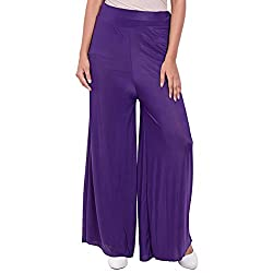 Diva Boutique Women's Palazoo (pl-07_Purple_34)