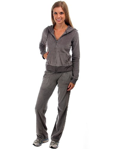 G2 Fashion Square 2PC. VELOUR HOODIE & PANT SET