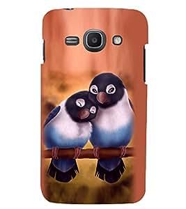 Printvisa Lite Love Birds Backcover For Samsung Ace (Multi)