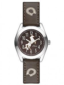 s.Oliver Mädchen-Armbanduhr Analog Leder SO-2414-LQ