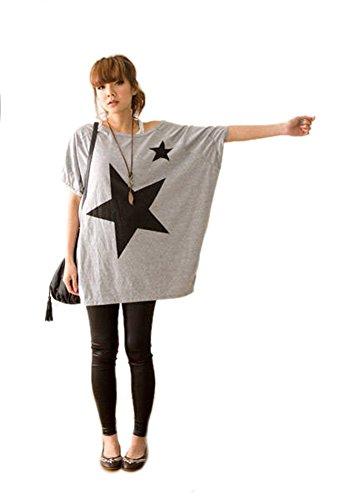 Camicie e Bluse Maglia Estive - LATH.PIN Maglietta Maniche Corte Donna, Batwing Dolman T-shirt Casual Top