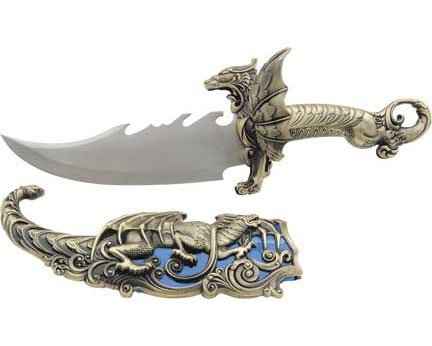 BladesUSA Hk-349 Fantasy Dragon Knife Display 16-Inch Overall