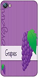 Snoogg bright organic purple grape card in vector format Designer Protective Back Case Cover For Micromax Canvas Fire 4 A107