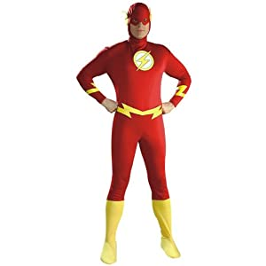 AVENGERS ~ The FlashTM Deluxe (Muscle Chest) - Adult Costume Men : MEDIUM