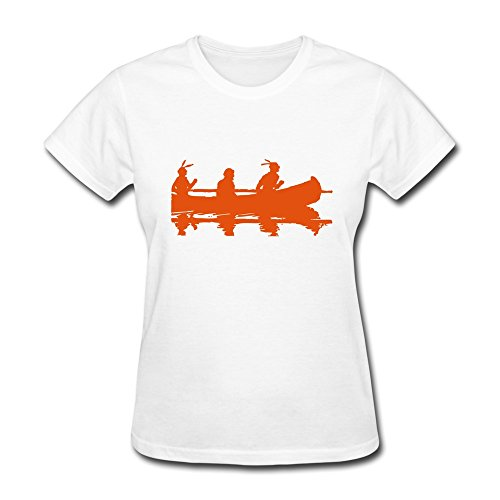 100% Cotton Cute Rowing Competition T Shirt For Woman'S - Round Neck front-636513