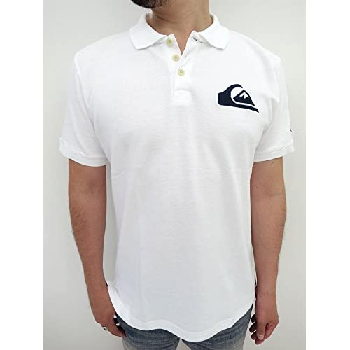 (クイックシルバー) QUIKSILVER 富嶽三十六景 半袖 ポロシャツ M ホワイト