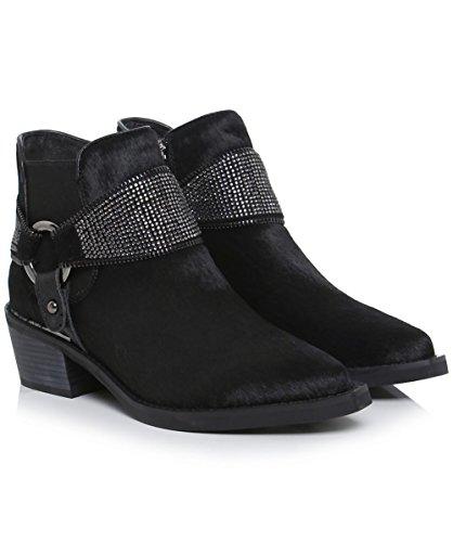 Alma en Pena Da Donna Staffa di diamante stivali da equitazione 40 Nero