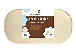 Naturepedic No Compromise Organic Cotton Oval Bassinet Pad